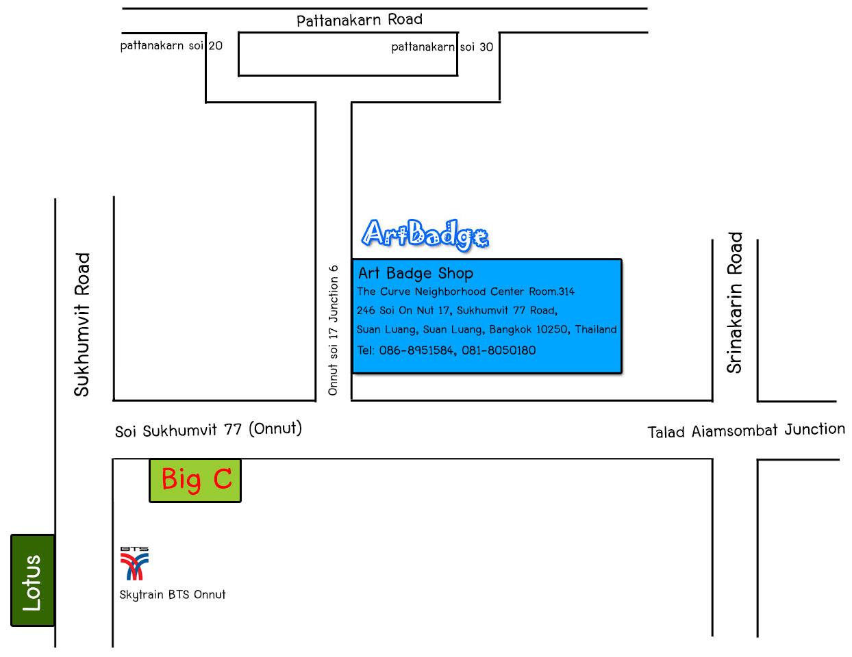 Artbadge Map