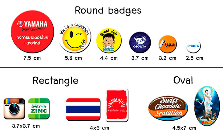All badges size